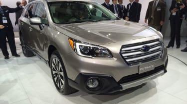 新的斯巴鲁内陆SUV在纽约揭幕