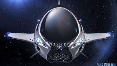 雷克萨斯设计了新电影发布的天鹰宇宙飞船