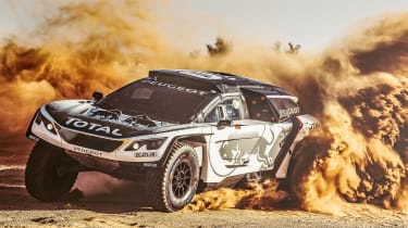 Sandblaster:新的Peugeot 3008 DKR齿轮在2017年达喀尔集会