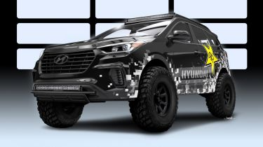 Hardcore Hyundai Santa Fe Blasts进入2016年SEMA展